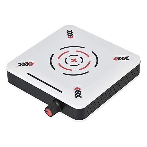Magnetblandare, Hj-1S miniplast, 25 W bärbar tyst magnetomrörare värmeplatta, maximal omrörningskapacitet: 1 000 ml, 2 400 varv/min, justerbara hastigheter, för vetenskaplig forskning (EU-kontakt)