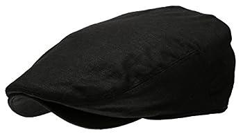 Men s Linen Flat Ivy Gatsby Summer Newsboy Hats  Black LXL
