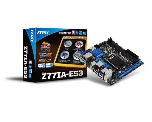 MSI Z77IA-E53 Mainboard Sockel 1155 (Mini-ITX, Intel Z77, DDR3 Speicher, 2X USB 3.0)