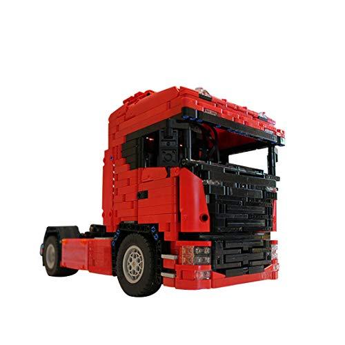 TETAKE Technik LKW Bausatz mit Power Functions Motor, 1661 Teile Ferngesteuert Truck Modell, Klemmbausteine Konstruktionsspielzeug Kompatibel mit Anderen Marken