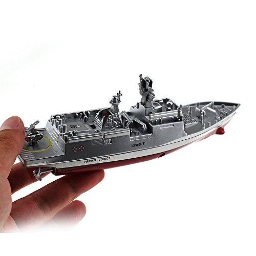Tipmant Military RC Naval Ship Vessel Model Remote Control Boat Speedboat...