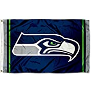3'x5' in Size with two Metal Grommets for attaching to your Flagpole Made of 100% Polyester with Quadruple Stitched Flyends for Durability, 150d Thickness, Imported Team Logos viewable on Both Sides (Opposite side is a reverse image) Perfect for your...