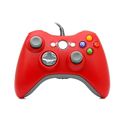 LOGO YCBHD Gamepad 5 Colores Mando de Juegos for Xbox 360 con Cable Controlador for Xbox 360 con Cable Controle la Palanca de Mando for Xbox 360 Controlador de Juego Gamepad Gamepad (Color : Red)