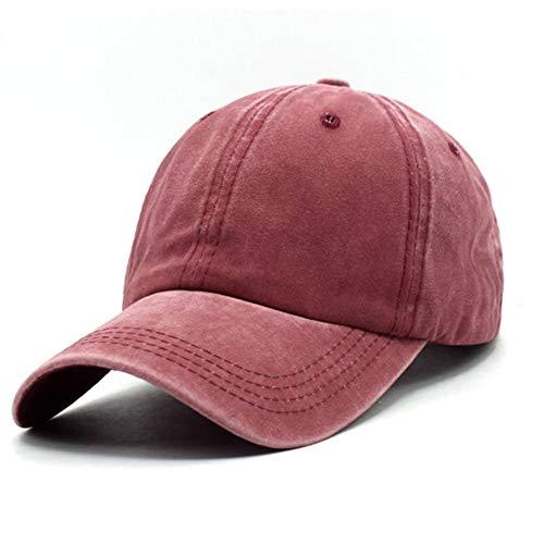 Unisex Jungen Mädchen Mütze Baseball Cap Hut Baby Kleinkind Kinder Kappe (Wein rot, 2-7 Jahre)