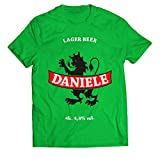 Maglietta Birra Personalizzabile Compleanno - Best Lager Beer - personalizza con Nome- t-Shirt Divertente Uomo