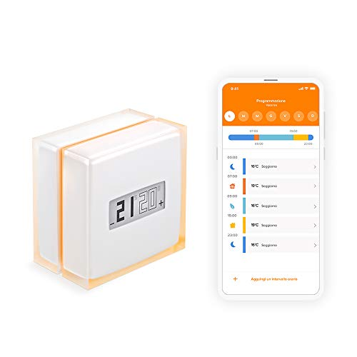 Netatmo NTH01-IT-EC Termostato Wifi Intelligente per Caldaia Individuale