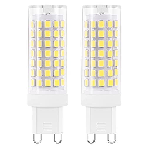 AIMHEIM Lampadine a LED G9 Dimmerabili, 88-LED SMD 2835 Lampade LED G9 Luce Fredda 6000K, 5.5W Equivalenti a 60W, AC 220-240V, 600LM, Angolo a fascio 360 °, 2 Pezzi