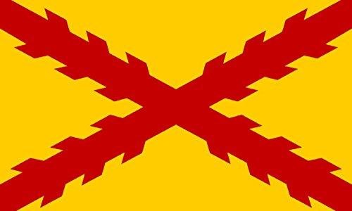Durabol Bandera De Tercios Morados Viejos Cruz de Borgoña 150 x 90 cm Satén Flag