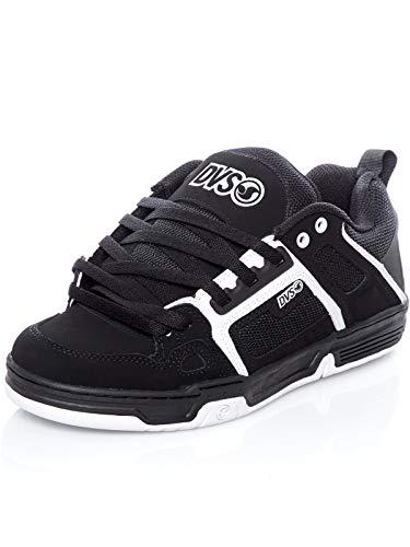 DVS Comanche, Scarpe da Skateboard Unisex-Adulto, Noir Black White Nubuck, 44 EU