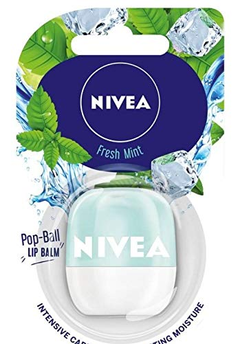 Nivea Lip Care POP- BALL Melt In Moisture Egg Lip Balm 7g (Pack of 1) (Fresh Mint)