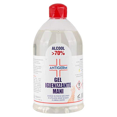 Gel Igienizzante Mani 70% Alcool Alcol Antigerm 1 Litro 1000ML ANTIGERM