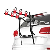 FIERYRED Trunk Mounted Bike Rack for Most Car SUV (Sedans/Hatchbacks/Minivans) 3-Bike Trunk Mount Bicycle Carrier Rack.