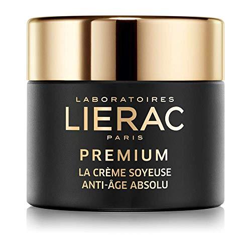 Lierac Premium la Crème Soyeuse, Crema Setosa Viso, Anti-Età Globale, con Acido Ialuronico, Rughe profonde, perdita di densità, rilassamento, adatta alla Pelle da normale a mista. Formato da 50ml