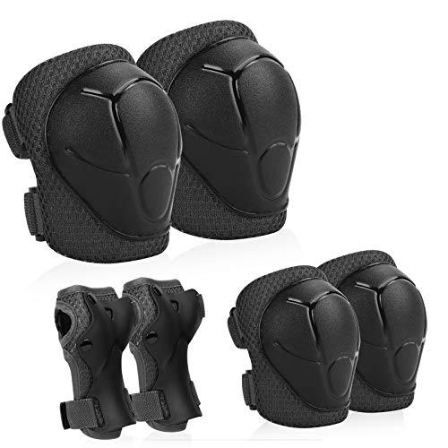 KUYOU Kids Protective Gear, Knee Pads Elbow Pads with Wrist...
