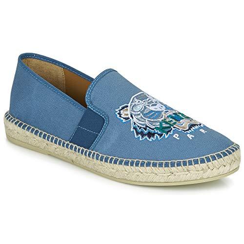 Kenzo Espadrille Elastique Tiger Head Stoffpantoletten/Espandrillos Herren Blau - 39 - Leinen-Pantoletten Mit Gefloch Shoes