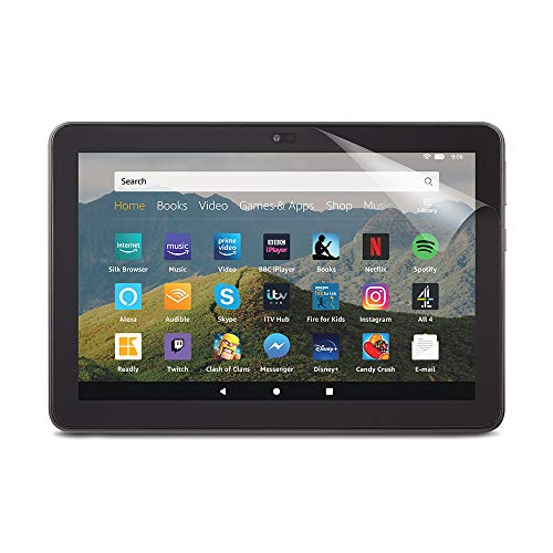 NuPro Clear Screen Protector for Amazon Fire HD 8 tablet | 10th generation (2020 release), 2-pack