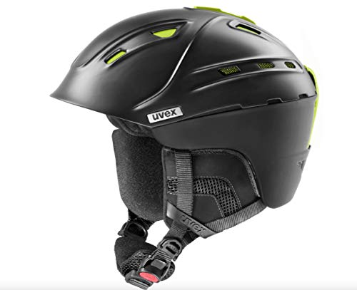 Uvex p2us IAS Ski Helm Black mat Yellow Kopfumfang 59-61cm 2019 Snowboardhelm