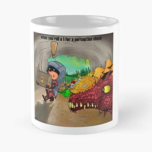 FISHOP Rouge DND Fantasy Best Mug hält Hand 11oz aus weißer Marmorkeramik