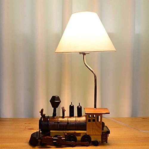 IOUYRRN Tren de Madera Retro para niños, lámparas de Noche para niños, lámparas de Personalidad de Dormitorio con lámparas de Tela de Tela