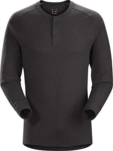 Arc'teryx Sirrus Ls Henley Men's T-Shirt à Manches Longues Homme, Multicolore-Noir (Black Heather), S