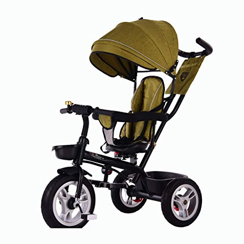 Great Features Of XIAOYANG Baby Bike Trolley 1-3-6 Years Old Tricycle Swivel Seat Brake System Foldi...