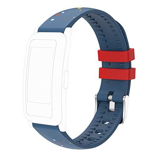 MoreFit, cinturino di ricambio regolabile per bambini, colore: blu/rosso