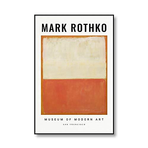 Póster de exposición de Mark Rothko, imagen artística de Color...