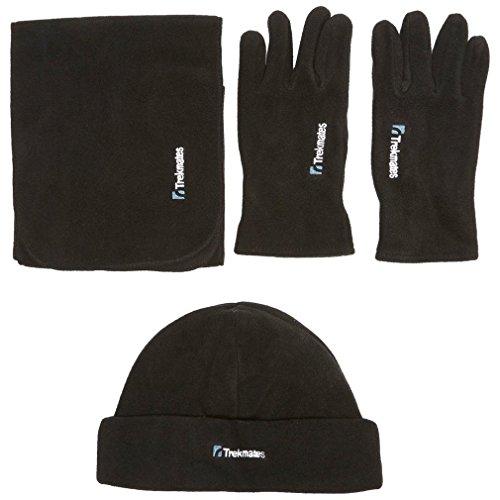 TREKMATES Unisex Icicle Fleece Set Black (Size Large/Extra Large)