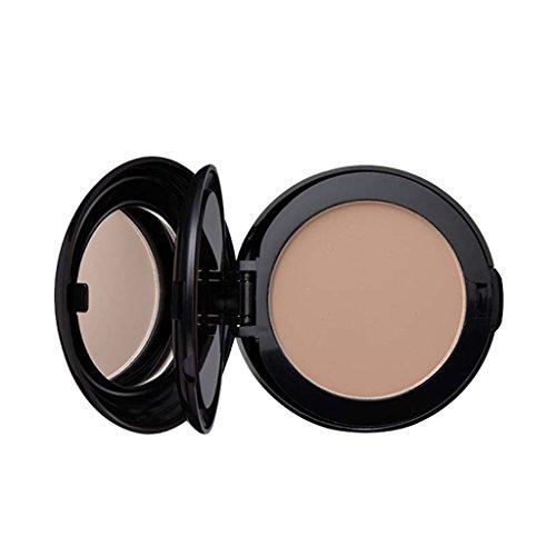MagiDeal 2 en 1Poudre Compact à Fond de Teint du Visage Maquillage Concealer Ombrage Mettre en Evidence Poudre avec Miroir Cosmétique - Couleur naturelle