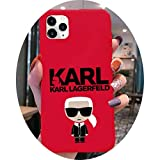 Lagerfeld luxury KARLS Phone Case for iphone 12 pro max mini 11 pro XS MAX 8 7 6 6S Plus X 5S SE 2020 XR red case,a4,For iPhone11 pro max