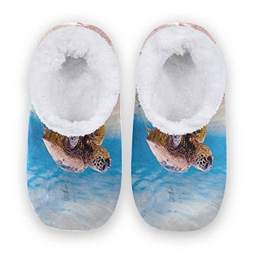TropicalLife BGIFT - Pantuflas de espuma viscoelástica para el hogar, cálidas y suaves, con forro polar, para interiores y exteriores, para dormitorio, antideslizante, para casa