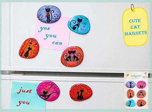 M MORCART Katze Kühlschrank Magnete Lustige Kühlschrankmagnete Set 6 Stück Dekorative Fridge Refrigerator Magnets Nette Küche Eisen Schließfächer Büro Zubehör Kleinkinder und Erwachsene