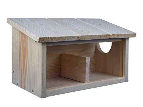 BÜMAG eG Eichhörnchen-Futterhaus oder Futterstation, naturbelassen aus Holz
