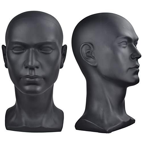ErSiMan Cabeza de maniquí profesional para cosmetología, para exhibir pelucas, gafas, sombreros, audífonos