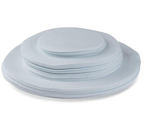 Felt Plate China Storage Dividers Protectors White Extra Large Thick and Premium Soft Set Of 48 (Round)