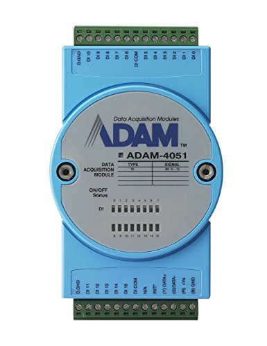 Input Module, Digital, Isolated, ADAM-4051 Series, 16 Channel, ASCII command, Modbus