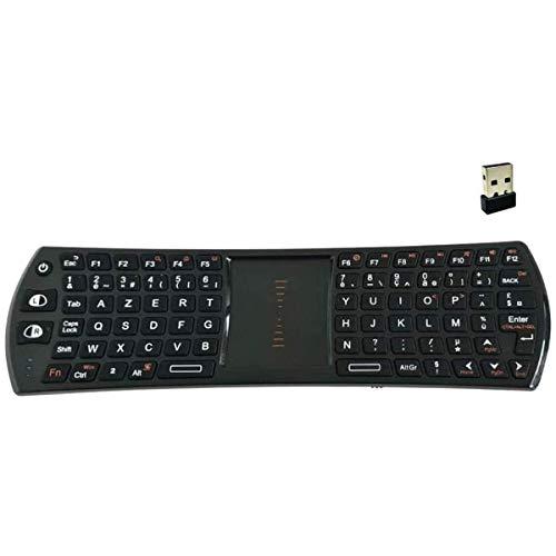 Rii/Ovegna K24T - Mini teclado y ratón inalámbrico para SmartTV, PC