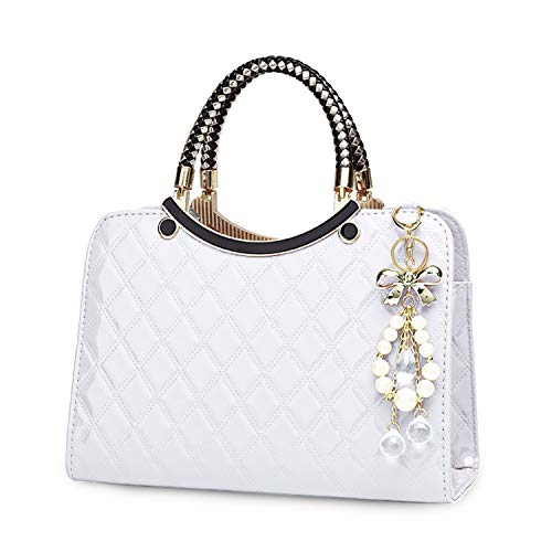 TIBES Shiny Patent Leather Women Purses and Handbags Ladies Fashion Top Handle Satchel Shoulder Totes Crossbody Bags