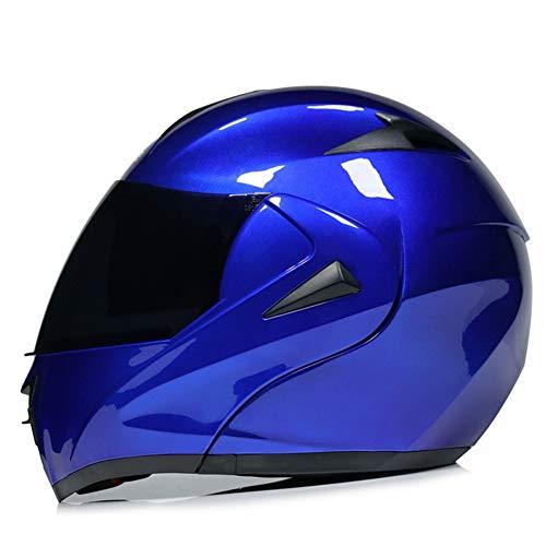 AI FAN Modular Casco Moto Integral con Doble Visera ECE HomologadoFlip Up Casco Scooter para Mujer Hombre Adultos