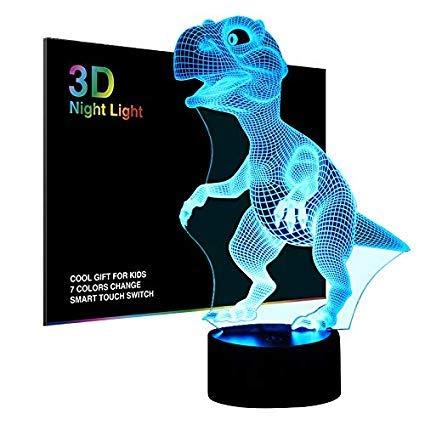 Teddybeer nachtlampje geschenken voor kinderen vrouwen mama meisjes Smart Touch & afstandsbediening 7 kleuren 3d illusion lamp dier licht kinderen LED bureaulamp