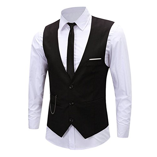 West See Herren Weste Top V Ausschnitt elegant Brautkleid Anzug Waistcoats Blazer Tweed Armelloses Sakko Geschäftsweste Anzugweste