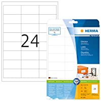 (white, paper, 600 items) - HERMA 5053 Labels Premium A4 66x33,8 mm white paper matt 600 pcs.