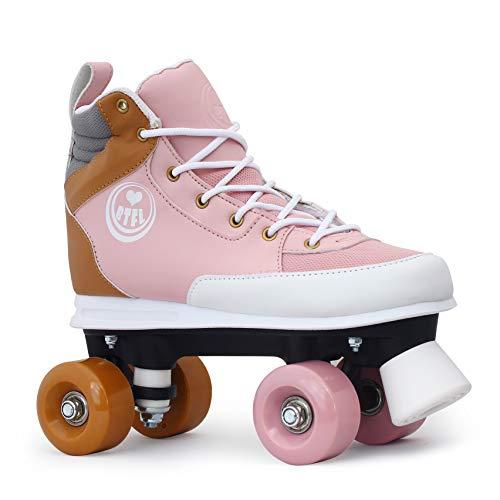 BTFL Rollschuhe Rosa Girlie für Mädchen,Retro-Rollschuhe,Dance-Roller,Rollerskates,rosa,EU 34
