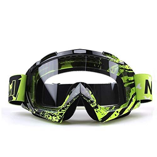Gafas De Moto Nordson Outdoor Motorcycle Goggles Cycling Off-Road Ski Sport ATV Dirt Bike Racing Gafas for Gafas de Motocross (Color : Transparent U820)