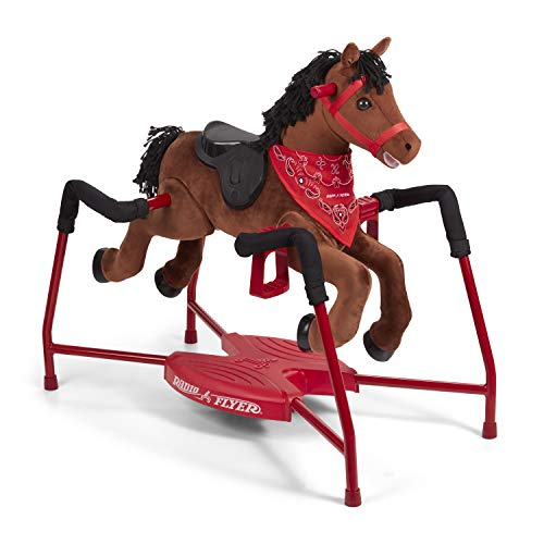 Chestnut - Radio flyer rocking horse with sound