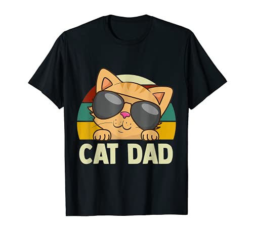 Regalo para hombre, gato, padre, gatito, retro, para hombre Camiseta