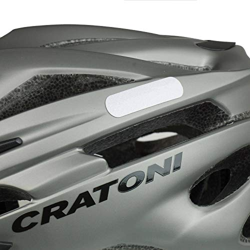 Cratoni Fahrradhelm Pacer, Anthracite matt - Reflektor, Gr. S-M (54-58 cm) - 2