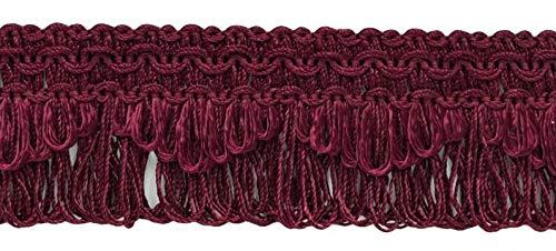 DecoPro décoratifs Bordeaux, Rubis festonné Boucle Frange/Tresse, 4 cm, Style # 9115 Couleur : E10 (J16) (Vendu par la Cour (0,9 m = 91 cm/0,9 m/91,4 cm)