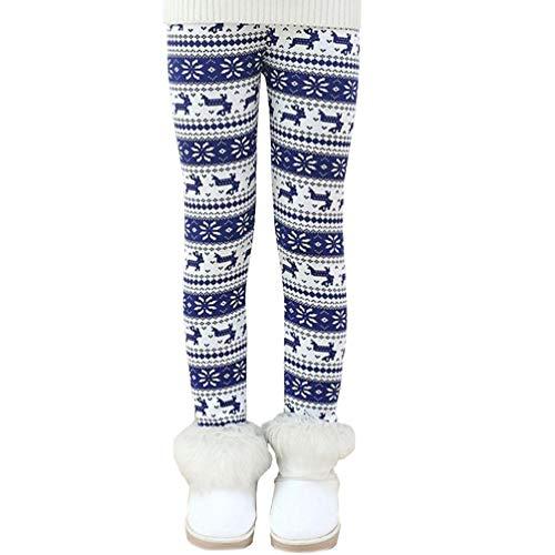 Ugitopi Leggings Forrados de Lana Invierno Niña Pantalones Grueso 2-11 Años