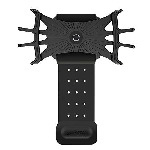 Festnight Braçadeira esportiva ajustável respirável à prova de suor de telefone celular braçadeira para o tamanho da tela entre 5.3-8.5in Banda de corrida ambulante de circulação a pé andando de pulso para o (Black)